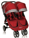 City Mini Double Stroller in Red 2012 by Baby Jogger with New Design for 2012