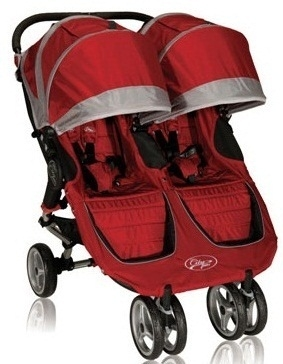 Baby Jogger City Mini Double Stroller 2013 In Crimson Red