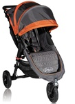 Baby Jogger City Mini GT Single Stroller 2012 in Orange / Shadow - Model  BJ15239