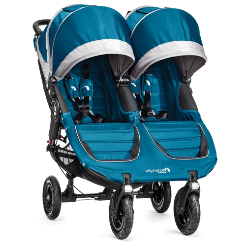 baby jogger city mini gt double stroller 2014 in teal gray model bj16429. Black Bedroom Furniture Sets. Home Design Ideas