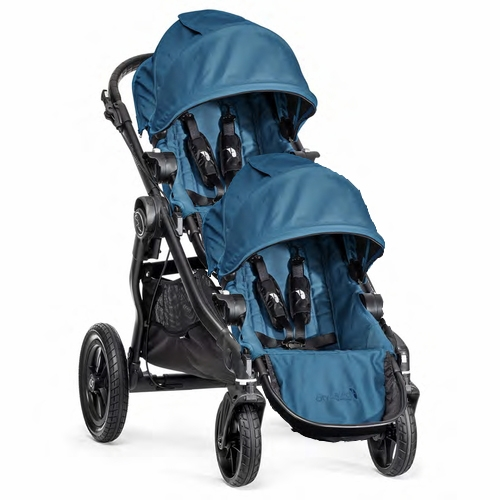 Baby Jogger City Select Double Stroller Teal Black Frame