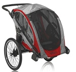 Baby Jogger POD Customizable Chassis Trailer in Crimson Red / Grey